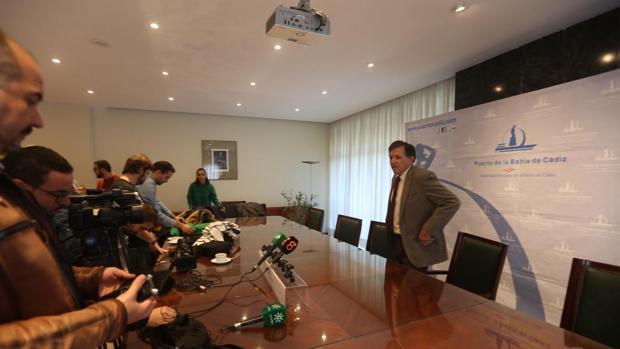 José Luis Blanco, presidente de la APBC, durante su comparecencia este viernes para hacer balance de la gestión
