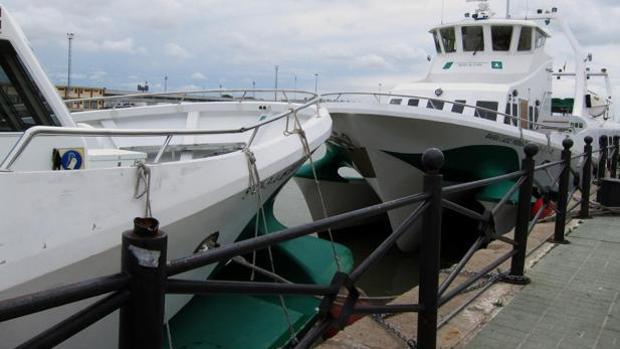El catamaran con Rota sigue sin dar servicio.