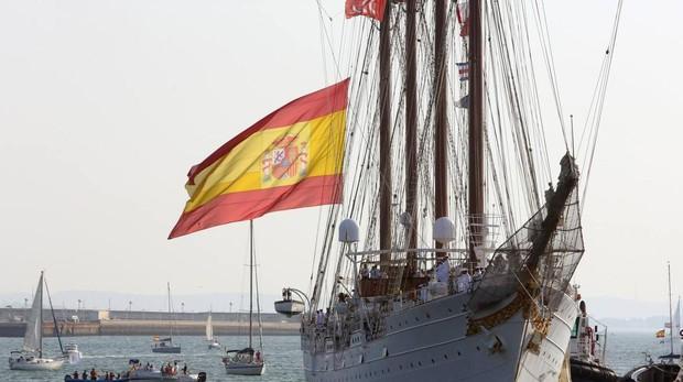 El Juan Sebastián de Elcano a su llegada a Cádiz el pasado mes de agosto.