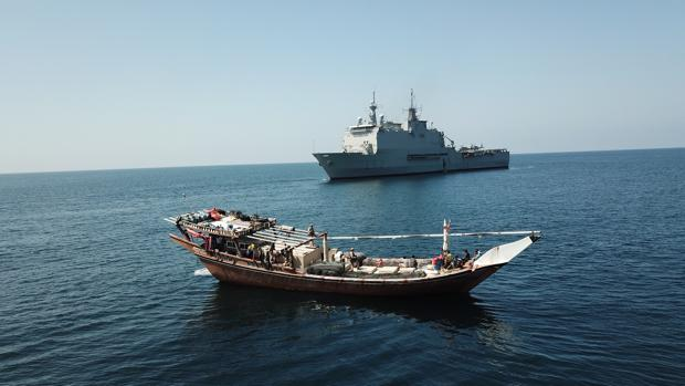 El 'Castilla' durante su despliegue en el océano Índico.