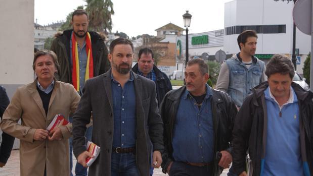 El dirigente nacional de Vox en una visita al Campo de Gibraltar el pasado mes de noviembre.