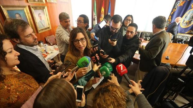 La delegada de Zona Franca, Victoria Rodríguez Machuca, realiza un balance de gestión