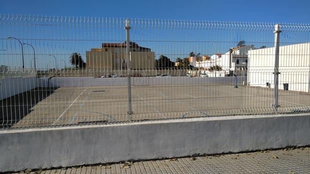 Patio del centro educativo que se encuentra en San Fernando.