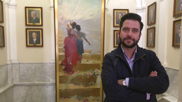 El portavoz socialista en el ayuntamiento de Cádiz en una foto de archivo.