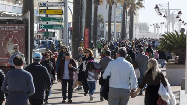 Cádiz vio mermada su población en el año 2017.
