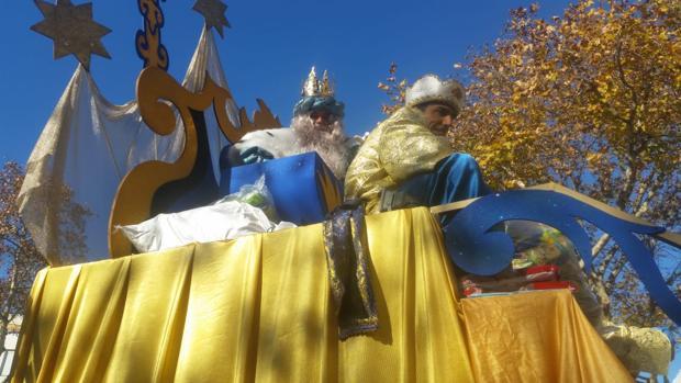 Los Reyes Magos están ya en sus carrozas.
