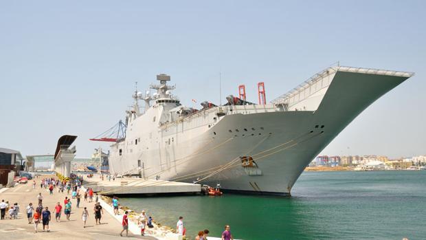 Vista panorámica del buque anfibio de la Armada 'Juan Carlos I'