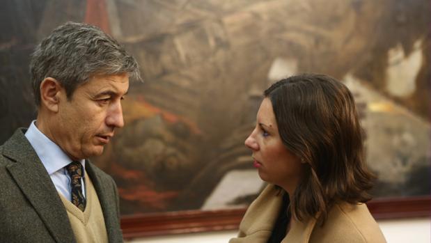 Los concejales de Ciudadanos, Juan Manuel Pérez Dorao y María Fernández-Trujillo.