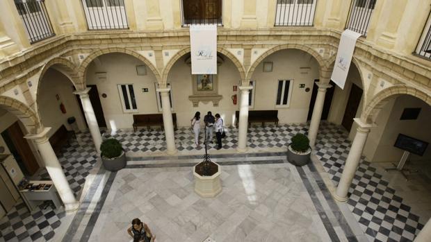 Patio interior del Centro Cultural Reiba Sofía, donde estará ubicado el Rectorado de la Universidad de Cádiz.