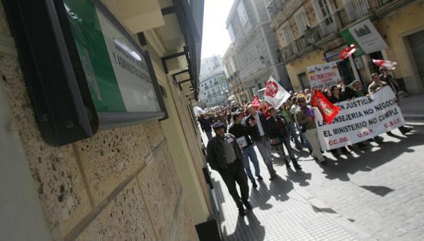 Foto de archivo de una marcha reivindicativa