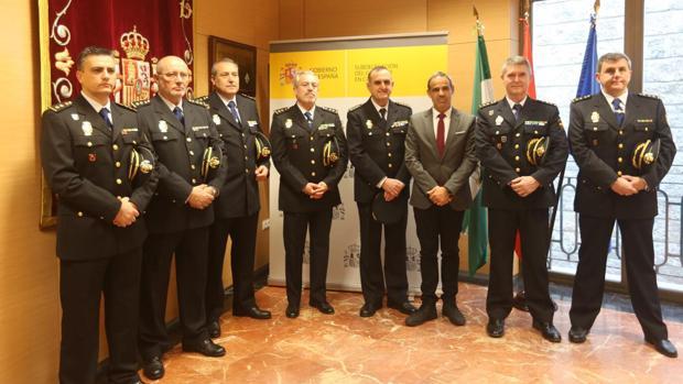 Los comisarios, recibidos en la Subdelegación.