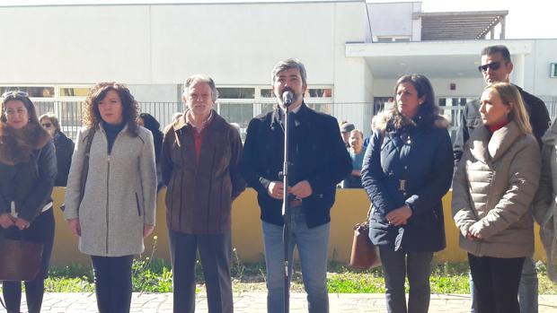 El alcalde de Coria, Modesto González, durante la inauguración del nuevo centro de salud