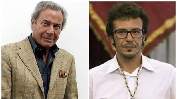 El actor Arturo Fernández y el alcade de Cádiz José María González 'Kichi'