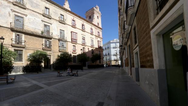Aspecto de la Plaza Argüelles una vez peatonalizada.