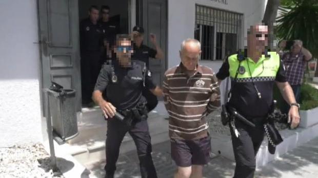 Isidro Sánchez, llevado ante el juez el día del crimen.