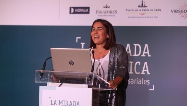 María Jesús Almazor, en un momento de la conferencia ofrecida este jueves en La Mirada Económica.