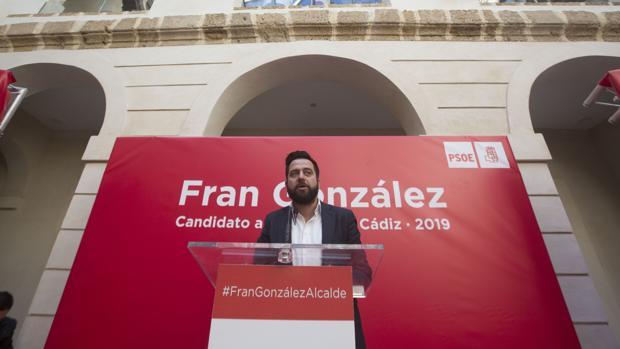 Fran González, el día de su presentación oficial como candidato.