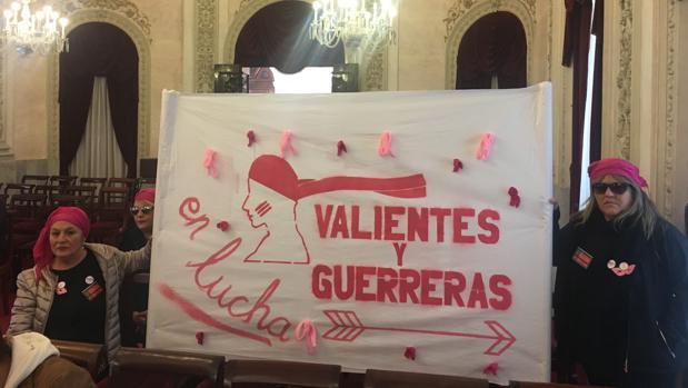 El lema de la campaña de protesta de esta asociación es 'Valientes y guerreras en lucha'.