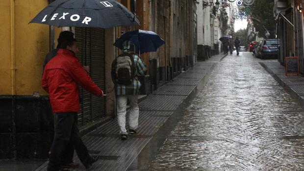 Días de lluvia en Cádiz