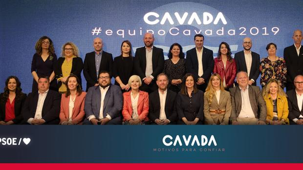 El equipo socialista para las elecciones del próximo mayo.