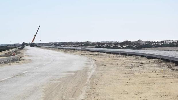 Imagen de las obras en la playa.