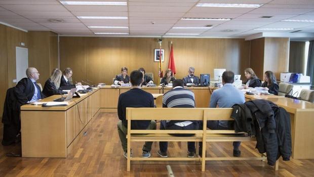 Momento del juicio del caso de la Manada de Villalba.