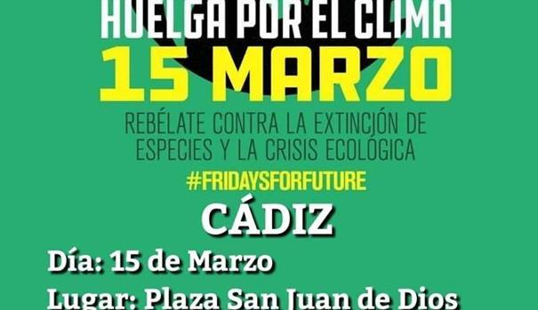 El cartel anunciador de la movilización en defensa del planeta.