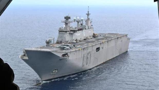 El buque insignia tiene su 'casa' en la Base Naval de Rota.