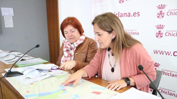 Mapa con los suelos de Chiclana.