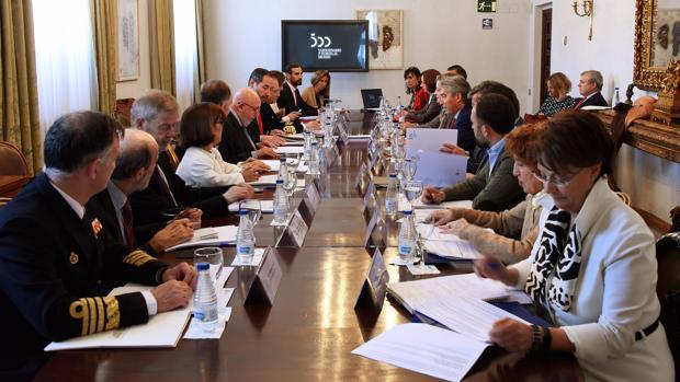 Imagen de la reunión de la Comisión del V Centenario.