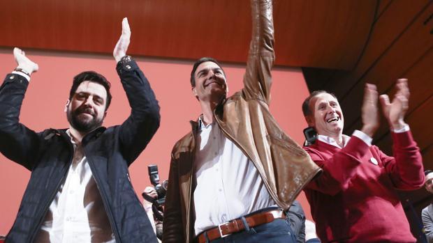 Imagen de la visita que hizo Pedro Sánchez el pasado año durante un mitín en el Palacio de Congresos.