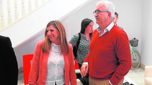 García y Jiménez Barrios, la pasada semana en la sede del PSOE.