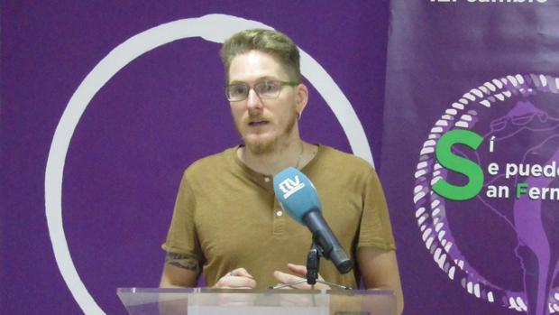 Ernesto Díaz candidato a la Alcaldía de Podemos.