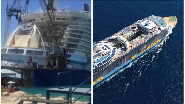 El crucero 'Oasis of the seas', viene a Cádiz a ser reparado.
