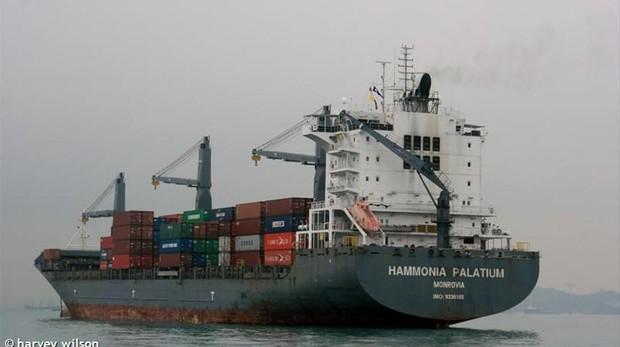 Imagen del 'Hammonia Palatium', el barco donde navegaba el marinero fallecido.