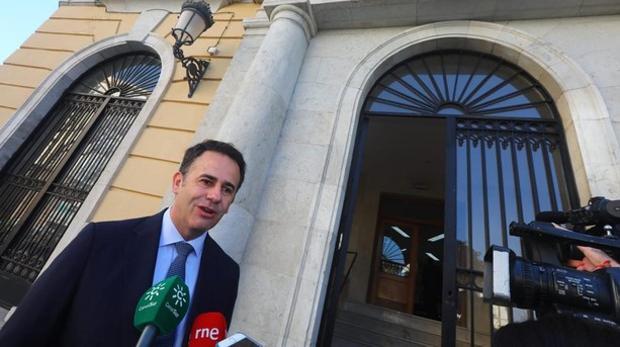Manuel García Gallardo, a su llegada a la Audiencia.