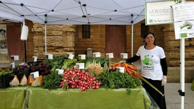 Mercado de productos ecológicos en Cádiz