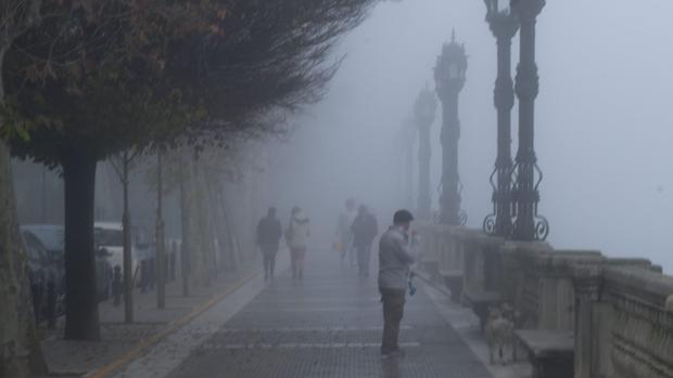 Niebla en Cádiz