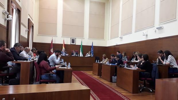 El pleno durante su sesión ordinaria.