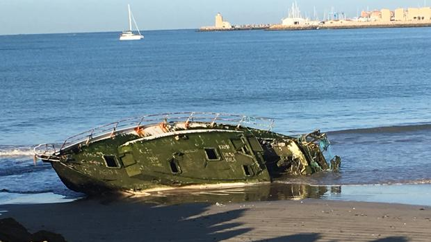 Imagen del velero, este martes.
