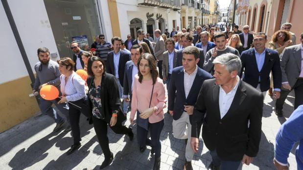 Inés Arrimadas,. en su visita a El Puerto de Santa María el pasado lunes.