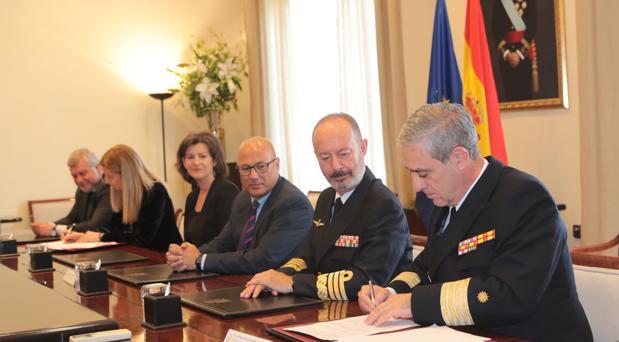 Momento de la firma del contrato de ejecución de la obra