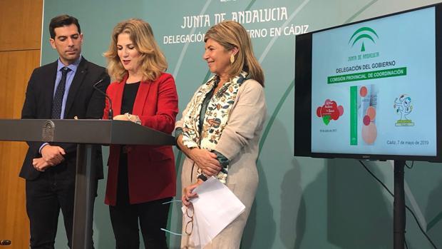 José Antonio Mulero, Ana Mestre e Isabel Paredes