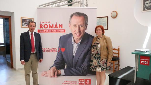 El actual alcalde, José María Román, del PSOE, durante un acto previo a las elecciones municipales del 26M.