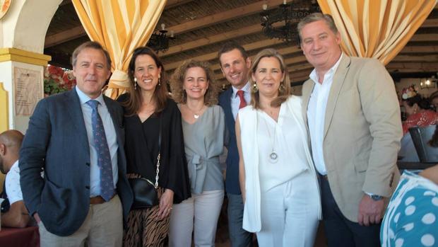 David González, Geraldine Sauzier, Carolin Rosales, Juan Rebollo, ángeles Revuelta y Ricardo Jara