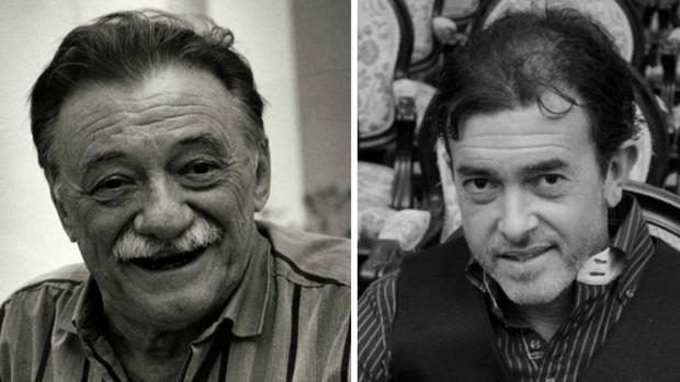 Mario Benedetti y Juan Carlos Aragón.