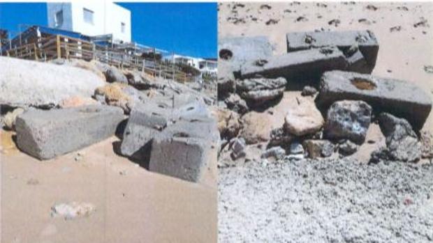 Uno de los accesos a la playa de Caños de Meca, en Barbate.