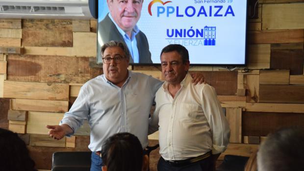 Zoida junto a José Loaiza en San Fernando.