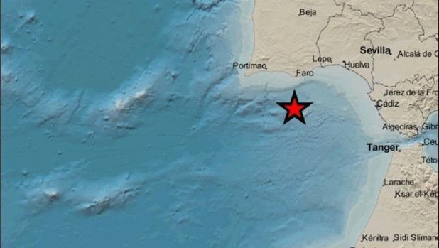 Terremoto con epicentro en el Golfo de Cádiz