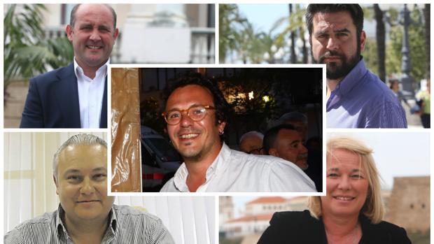 Los cinco candidatos para las elecciones municipales de Cádiz 2019